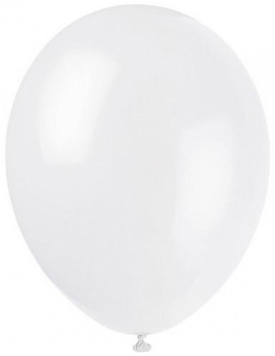 12 witte ballonnen van 28 cm