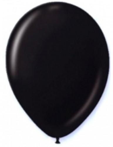 12 zwarte ballonnen van 28 cm