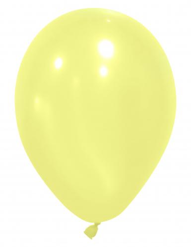 12 lichtgele ballonnen