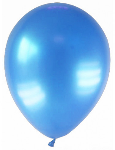 12 gemetalliseerde blauwe ballonnen