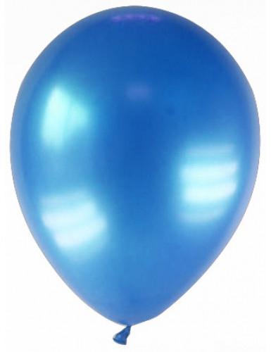12 gemetalliseerde donkerblauwe ballonnen