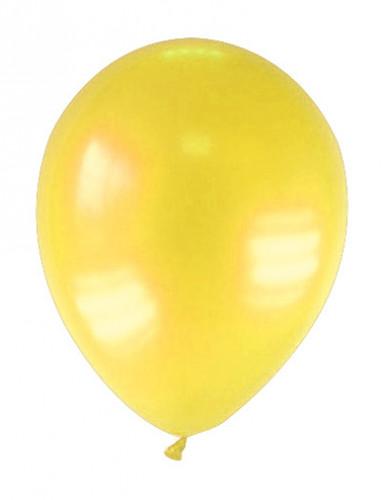 12 gemetalliseerde gele ballonnen