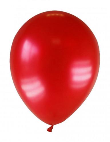 12 gemetalliseerde donkerrode ballonnen