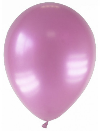 12 gemetalliseerde roze ballonnen
