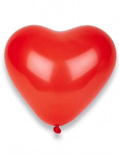 10 ballonnen in de vorm van rode harten