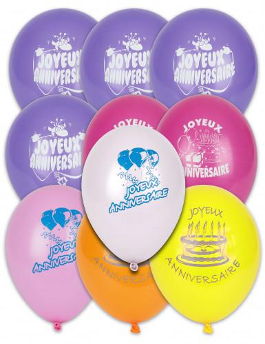 10 ballonnen Gelukkige verjaardag