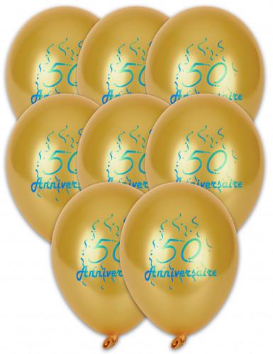 8 ballonnen 50ste verjaardag