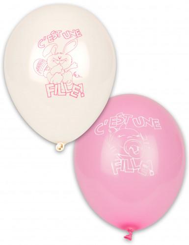 10 ballonnen Het is een meisje!