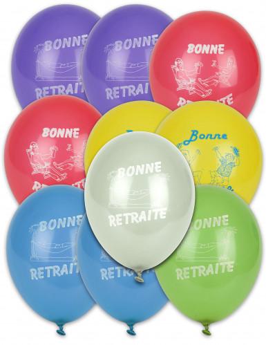 10 ballonnen Vive la retraite