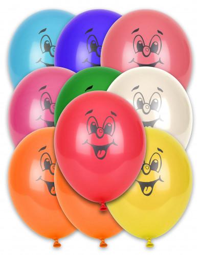 10 ballonnen in verschillende kleuren smile