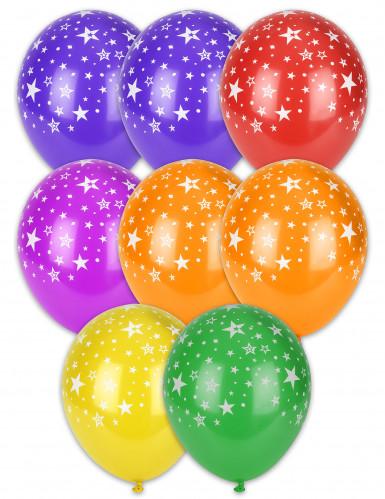 8 ballonnen met sterretjes