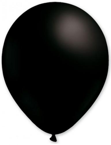 100 zwarte ballonnen van 27 cm