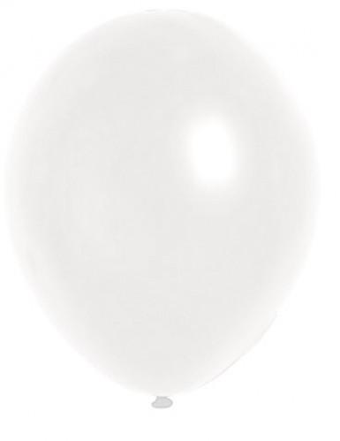 100 witte metallieken ballonnen van 29 cm
