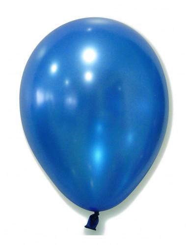 100 metallic blauwe ballonnen