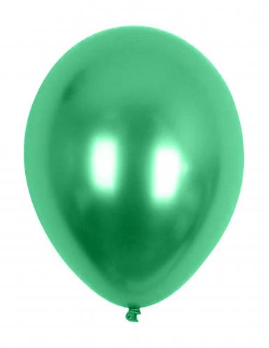 Groene metallieken ballonnen van 29 cm
