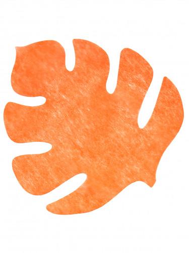 4 oranje bladeren tafeldecoratie