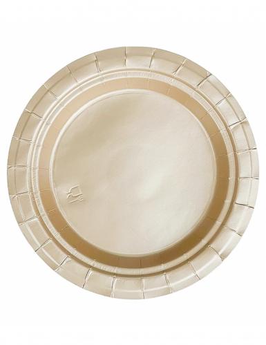 20 goudkleurige kartonnen borden