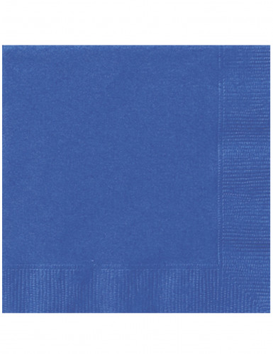 20 blauwe papieren servetten
