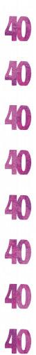 Roze 40 jaar slinger