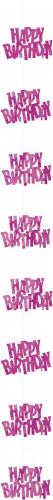Roze Happy Birthday decoratie