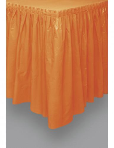 Oranje plastic tafelrok