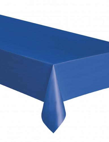 Rechthoekig blauw plastic tafelkleed