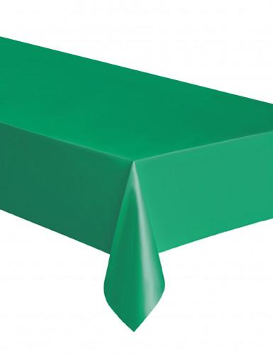 Rechthoekig tafelkleed in smaragdgroen plastic