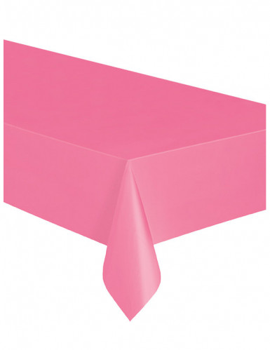 Roze plastic tafelkleed-1
