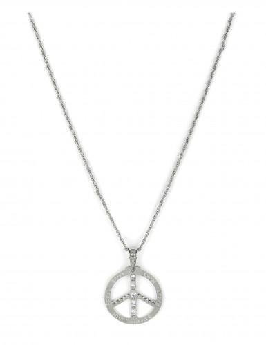 Hippie peace and love ketting voor volwassenen