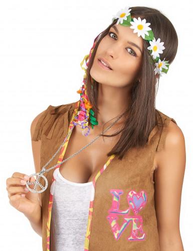 Hippie peace and love ketting voor volwassenen -1