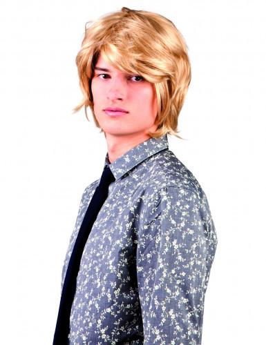 Blonde korte pruik voor volwassenen