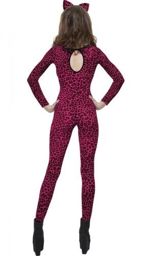 Roze luipaardkostuum voor volwassenen-1