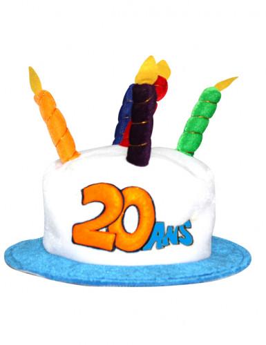 Verjaardagshoed voor volwassenen leeftijd 20