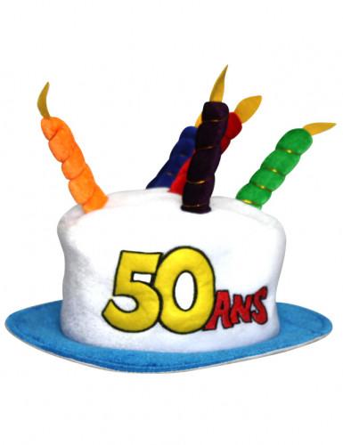 Verjaardagshoed voor volwassenen leeftijd 50