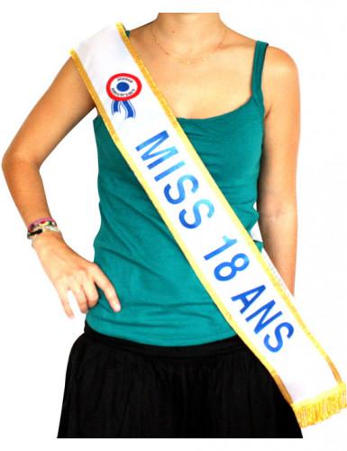 Blauwe Miss-sjerp 18 jaar
