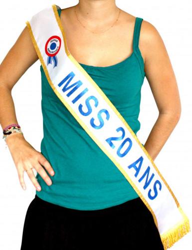 Blauwe Miss-sjerp 20 jaar