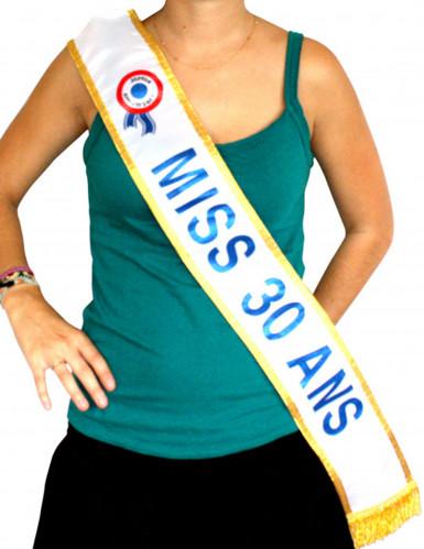 Blauwe Miss-sjerp 30 jaar