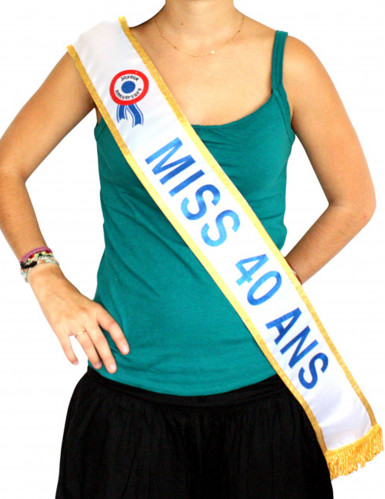 Blauwe Miss-sjerp 40 jaar