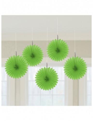 Hangende decoratie groene rozetten