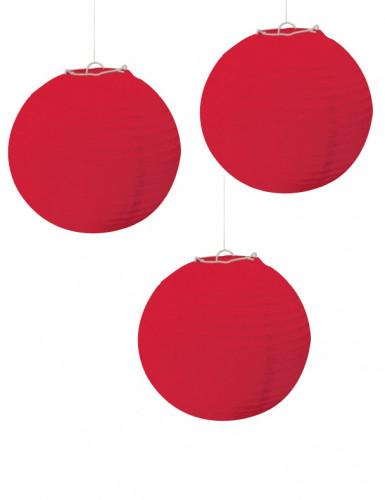 Rode lantaarns versieringen