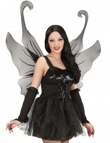 Zwarte vleugels met glitters voor volwassenen