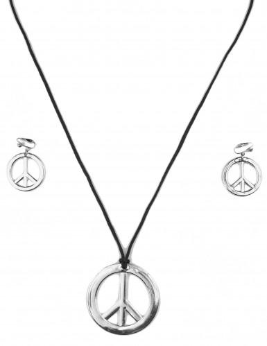 Set Hippie sieraden voor volwassenen