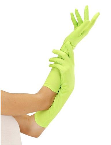 Lange fluogroene handschoenen