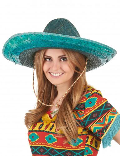 Groene Mexicaanse sombrero voor volwassenen-2