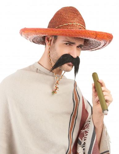 Oranje Mexicaanse sombrero voor volwassenen-1