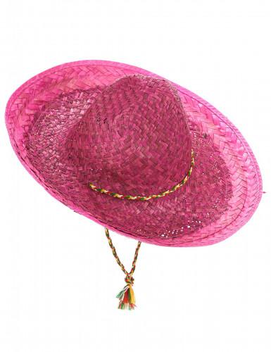 Roze Mexicaanse sombrero voor volwassenen