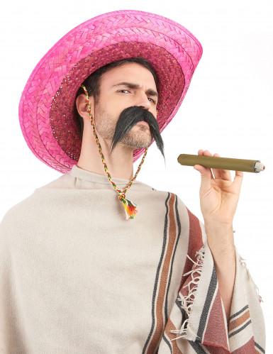 Roze Mexicaanse sombrero voor volwassenen-1