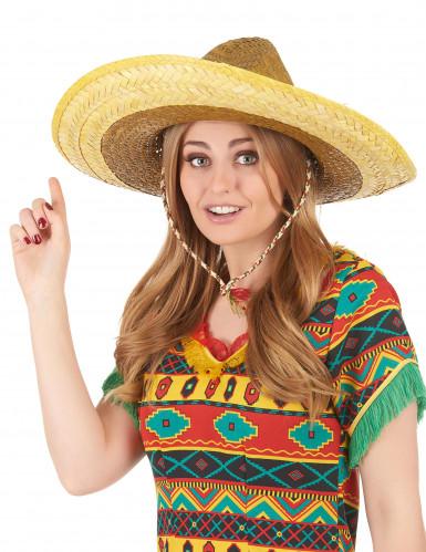 Gele Mexicaanse sombrero voor volwassenen-2