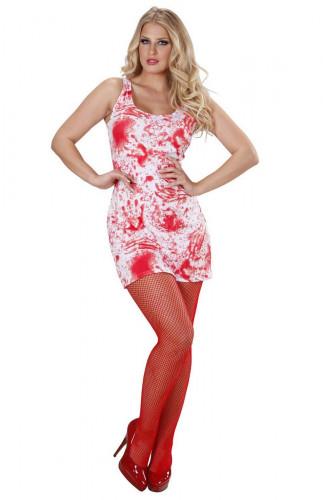 Bloederige jurk voor volwassen vrouwen