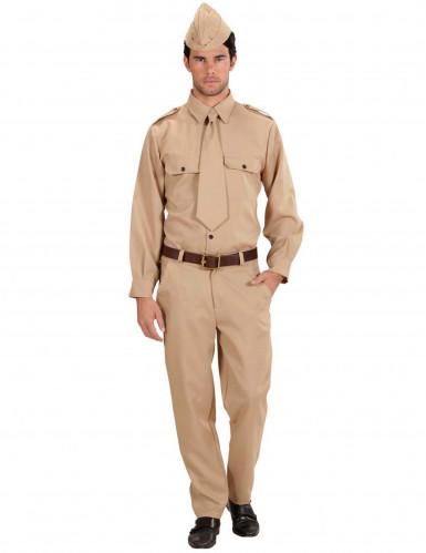 Amerikaans soldatenkostuum voor volwassenen